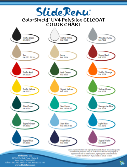 SlideRenu color chart